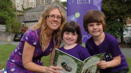 Anna Matthews who has launched a new preschool business with her is Gwilym and Carys.