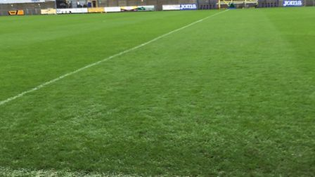 Weston's pitch ahead of their postponed match with Doncaster Rovers.
