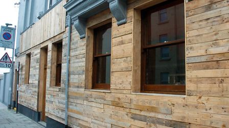 The wooden front of Bare Grills in Richmond Street.