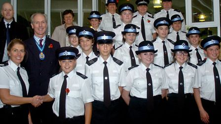 Launch of new cadets unit at the Portishead police headquarters.