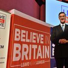Jacob Rees-Mogg at a Leave Means Leave rally. Photograph: John Stillwell/PA.