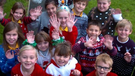 Christmas jumpers day Tickenham Primary School.