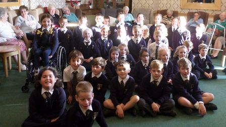 St Joseph's Primary School pupils at Haven Lodge