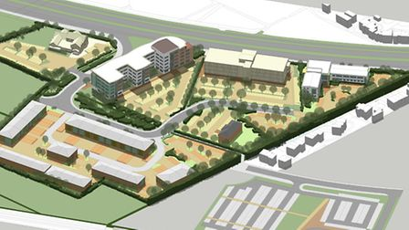 The planned Weston Gateway Business Park.