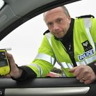 Sgt Mike Olding with breath test.