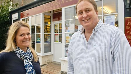 Sandra and Clive Heyward outside their new storefront.
