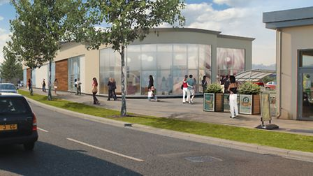 An impression of how the new development will look.