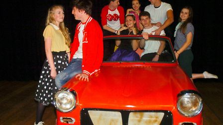 Backwell School in Dress rehearsal for their production of Grease.