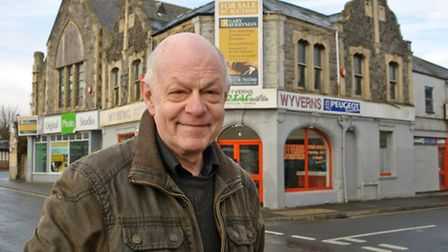 Chris Latty outside Wyverns Motorcycles, which is closing down after 50 year in business.