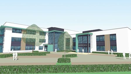 An artist's impression of what Enterprise House will look like once it is built.