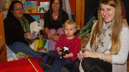 Highdale Childcare new nursery opened,Petra Townsend and Emily Short with baby Lily and mum Martha.