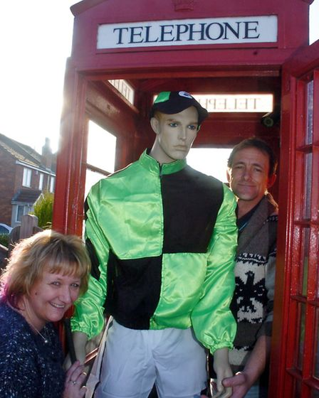 Mannequin in a Phonebox, Jayne Corrigan and Martin Townley.