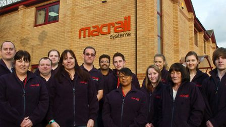 Staff at MacRail Systems at Morston Court,Aisecome Way, Weston.