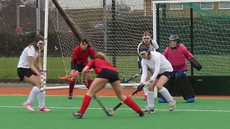 Winscombe 3rd XI in action.