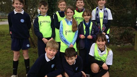 Fairfield School pupils who competed in the cross country event.