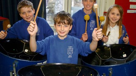 Backwell Junior School, Steel band workshop.