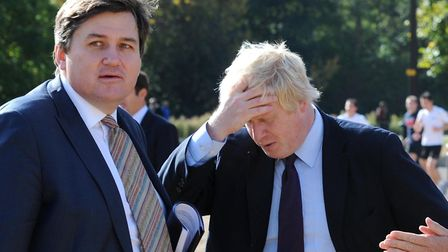 Boris Johnson and Kit Malthouse. Photograph: Stefan Rousseau/PA.
