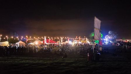 Evening scenes from ArcTanGent Festival (Photo by Nathan Gevers, 2014)