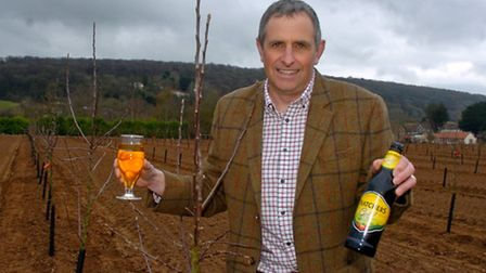 Thatchers boss, Martin Thatcher, in his orchards.