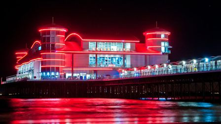 The Grand Pier at night.