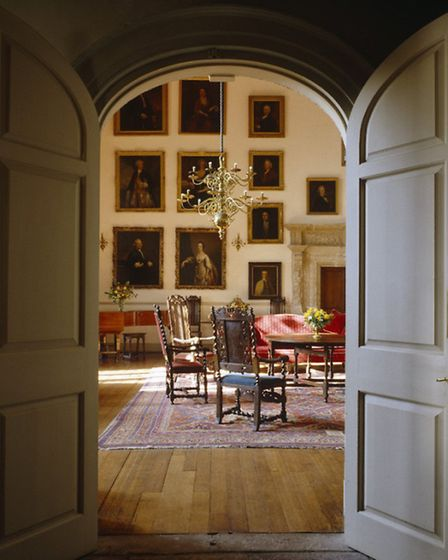 The Great Hall from the Screens Passage at Clevedon Court. (©National Trust Images/Andreas von Einsi