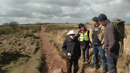 A history walk taking place on the Mendip Hills.