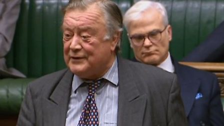 Sir Desmond Swayne drifts off in the House of Commons behind Ken Clarke. Photograph: Parliament Live