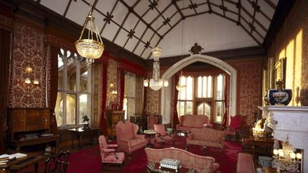 General view of the Drawing Room at Tyntesfield looking south west towards the lancet windows. © Nat