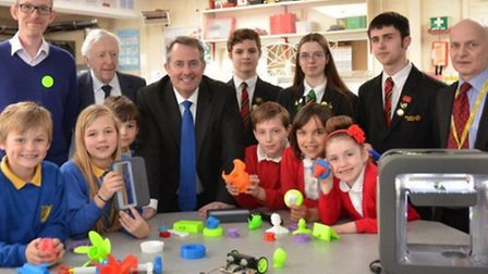 Students and teachers from the Clevedon Learning Trust with parliamentary candidate Dr Liam Fox