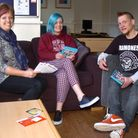 Nailsea Youth House Reopening, Debbie Stephens, Charlotte Badgar and Steve Croxton.