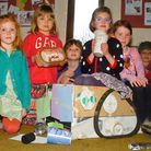Children enjoying the Easter Holiday Club at St Andrews Church Backwell.