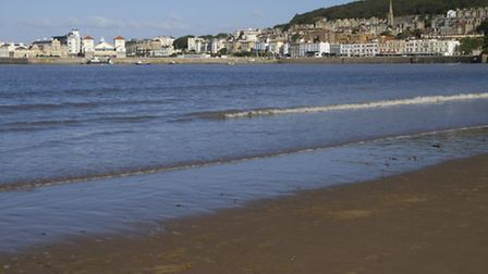 The beach and seafront at Weston-super-Mare