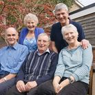 Maggie Holland (seated right) with Trevor Green and Richard Jenkins who all have Parkinson's disease