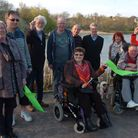 Official opening of path all the way round Backwell Lake.