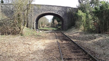 The disused line between Portishead and Bristol