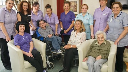 Staff and residents at Lyndhurst Park Care home.