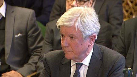 BBC Director General Lord Hall giving evidence to the Public Accounts Select Committee. Photograph: