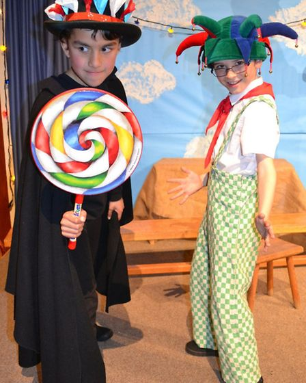 The cast of Chitty Chitty Bang Bang enjoying their roles in Fairfield School's production.