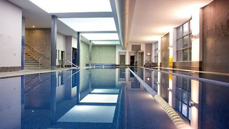Relax in the pool before a treatment at the Cadbury Hotel Spa.