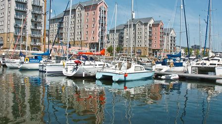 Portishead Marina is perfect for a tranquil walk.