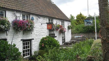 Attractive beer garden at the Black Horse (Geograph, Dr. Duncan Pepper).