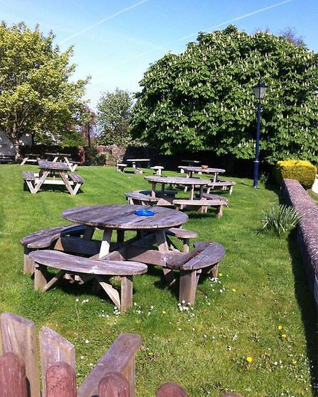 Relax with spectacular views in the New Inn beer garden (copyright New Inn).