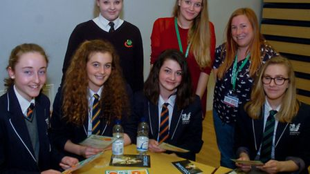 Gordano School pupils during the networking event.