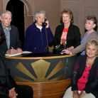 Clevedon Players rehearsal of Murder Weekend.