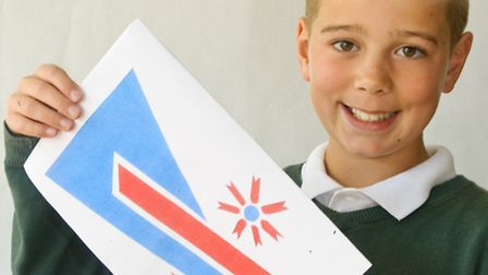 Year six pupil, Josh, whose flag design has been chosen for parliament competition.