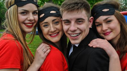Nailsea School Year 13 leavers dressed up for last day of term.