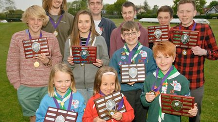 Young people with their awards.