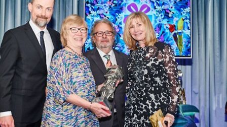 Country House Gift Company owner Elaine Coles, with staff, at the Greats Gift Awards.