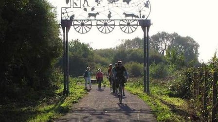 The gate on the route at Yatton (Picture: Strawberry Line Society).