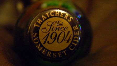 Thatchers cider is served at The Criterion
